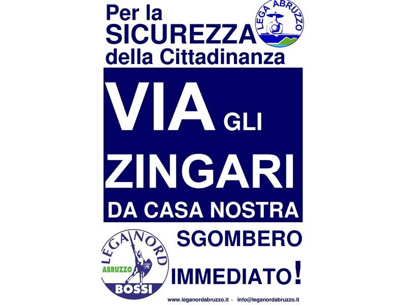 Manifesto della Lega Nord dopo la morte di Emanuele Fadani